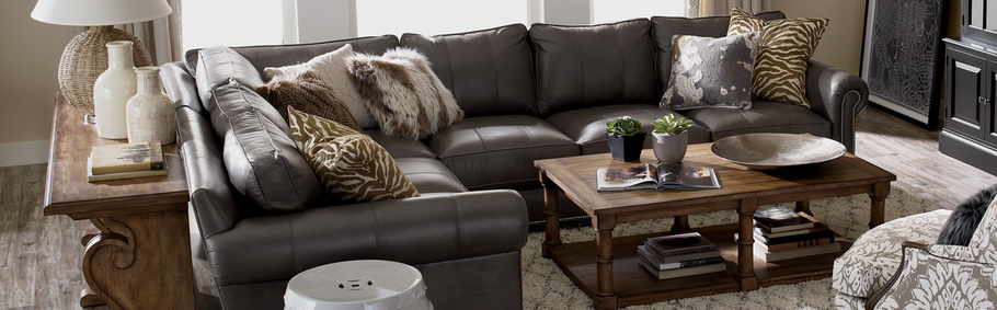 Shop Sectionals | Leather Living Room Sectionals | Ethan Allen