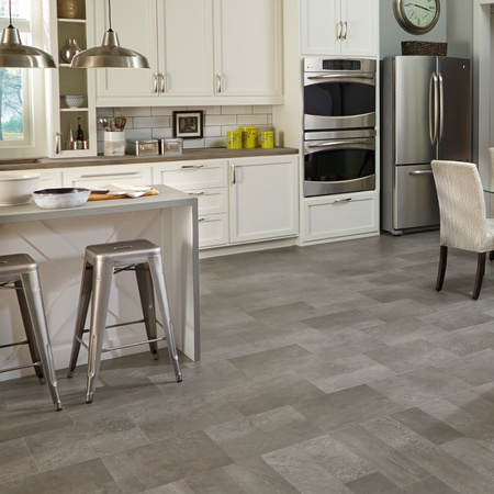 Luxury Vinyl Tile Floor Showcases A Mix Of Light And Dark Shadows In Both Plank Size Offerings The Cosmopolitan Options This Design Inspire
