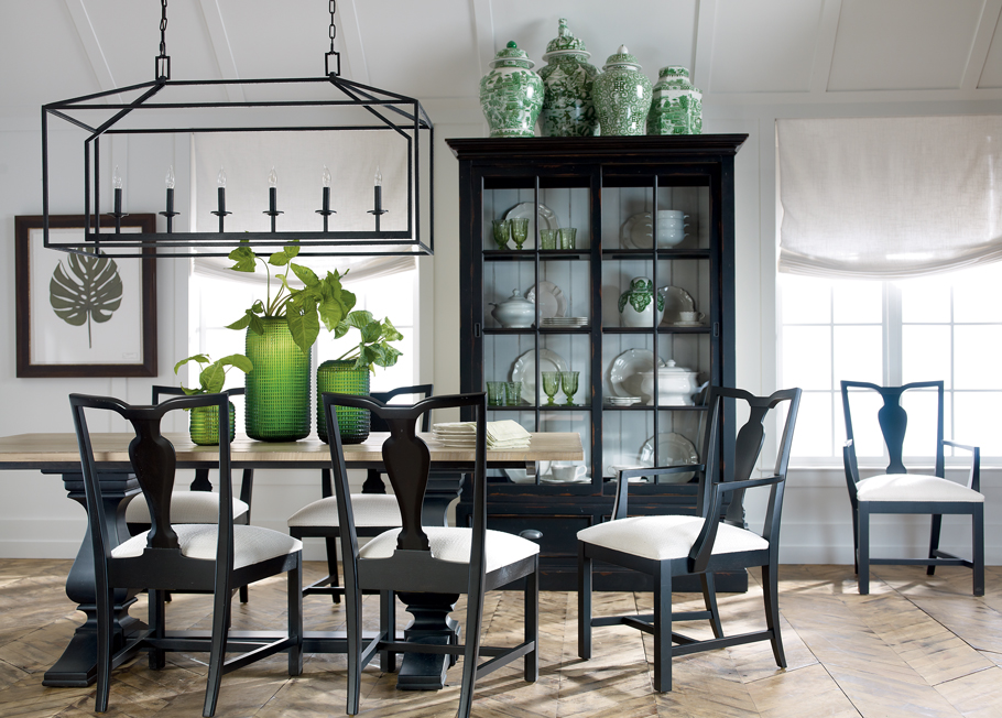 Back To Black And White Dining Room | Ethan Allen | Ethan Allen