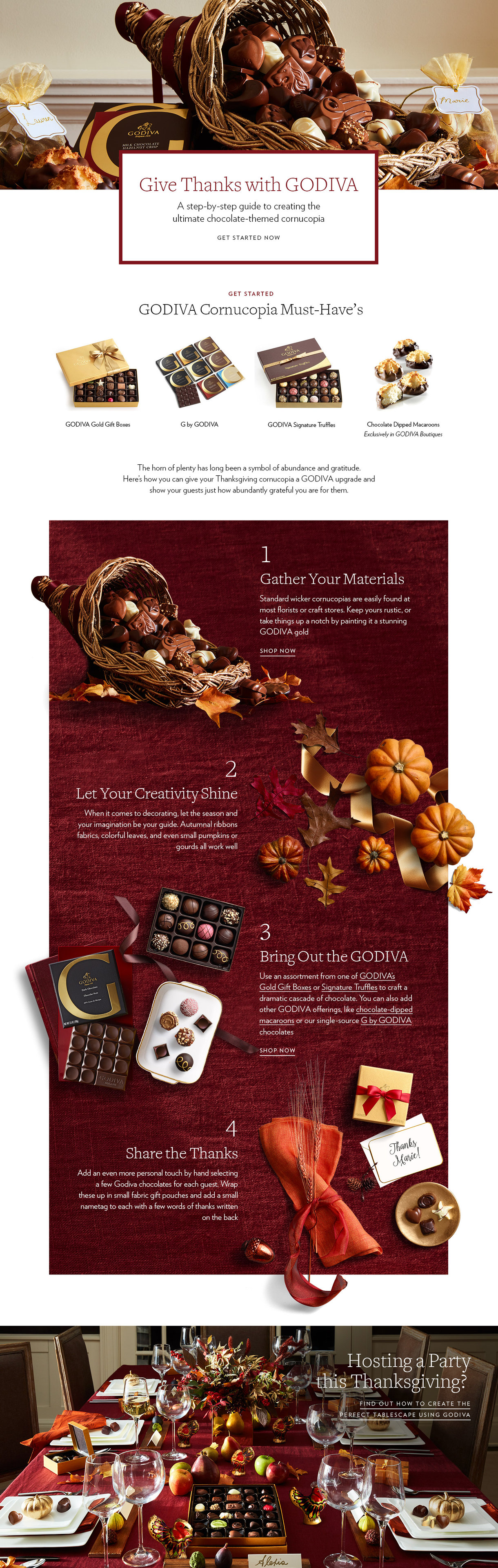 Thanksgiving Chocolate Cornucopia | GODIVA
