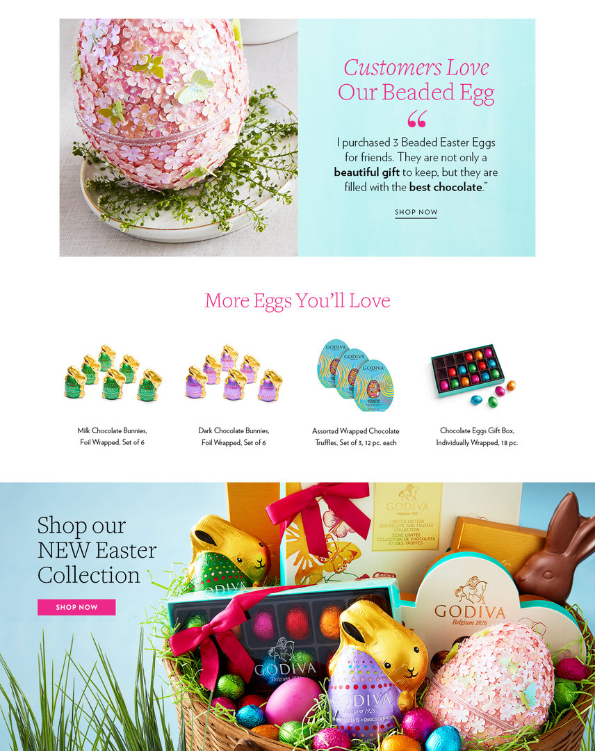 Easter chocolate foil eggs in beaded eggs and cases godiva lpbeadedeggfinalbottom celebrate easter with the most delicious chocolate negle Images