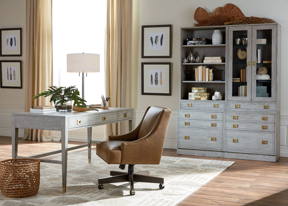 Campaign Home Office Ethan Allen Ethan Allen - Desks for home office ethan allen