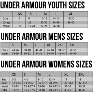 Under Armour Size Chart 4x