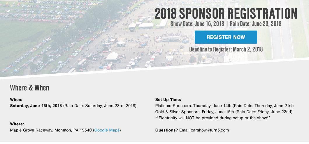 Car Show Sponsorship - Show car sponsorship