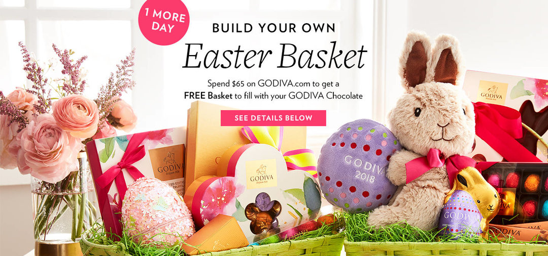 The perfect diy easter chocolate gift basket godiva negle Images
