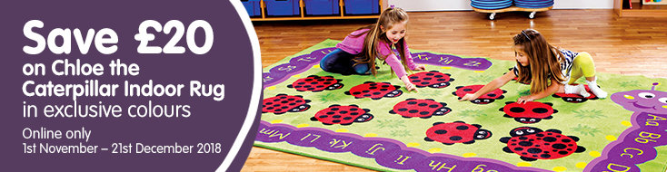 Save £20 on Chloe the Caterpillar Indoor Rug Category Banner
