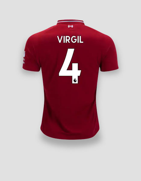 e4318f052 OFFICIAL 18 19 COLLECTION. VirgilJersey. LIVERPOOL. PLAYER JERSEYS