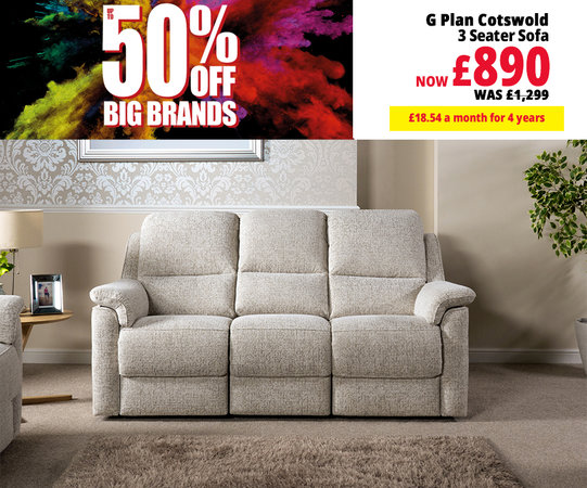 G Plan Sofas Range | Fabric, Leather & Recliners | ScS